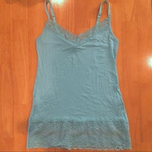 The Limited Aqua Lace Cami